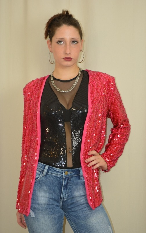 """GIACCA PAILLETTES K164 """"KATE"""" TG S"""